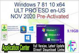 Windows 10 X64 10in1 20H2 ESD en-US NOV 2020 {Gen2}